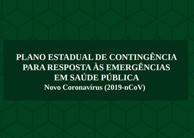 Plano Estadual de Contingência contra o Novo Coronavírus (2019-nCoV)