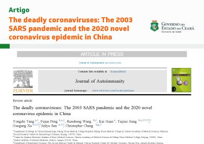 O coronavírus mortal: a pandemia de SARS de 2003 e a nova epidemia de coronavírus de 2020 na China (em inglês)