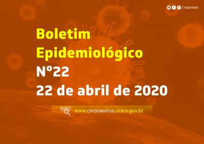 Boletim Epidemiológico nº 22 de 22 de abril de 2020