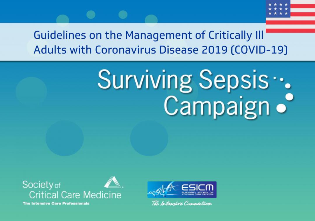 Campanha Sobrevivendo à Sepse: Diretrizes para o Manejo de Doentes Críticos Adultos com Doença de Coronavírus (em inglês)