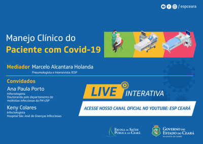 Live Interativa aborda o Manejo Clínico do Paciente com Covid-19