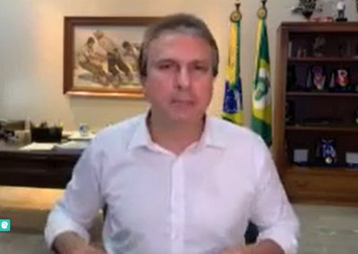 06.04 | Camilo Santana anuncia ações para adquirir EPIs e máscaras caseiras