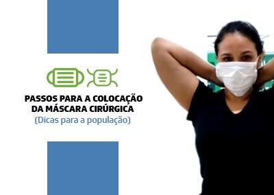 Colocação da Máscara Cirúrgica para a População
