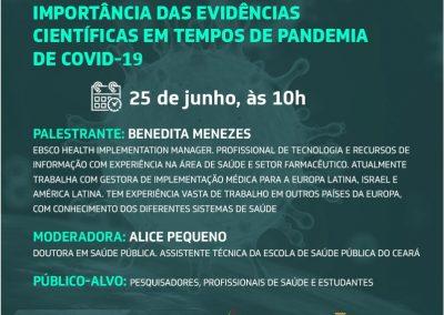 Importância das evidências científicas no contexto da Covid-19 é tema de webconferência
