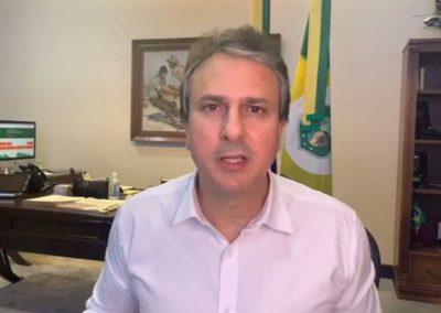 27.07 | Camilo Santana anuncia a instalação de laboratórios para análise de testes em Sobral e no Cariri