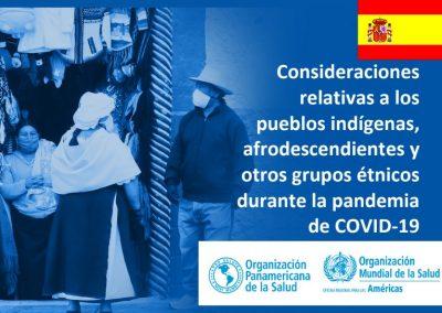 Publicação da Organização Pan-Americana da Saúde discute etnia no contexto da Covid-19