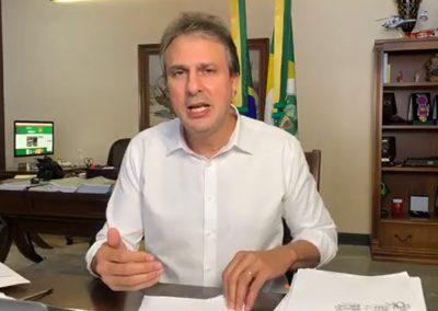 24.08 | Camilo Santana comenta inauguração da Central Analítica de Testagem da Fiocruz