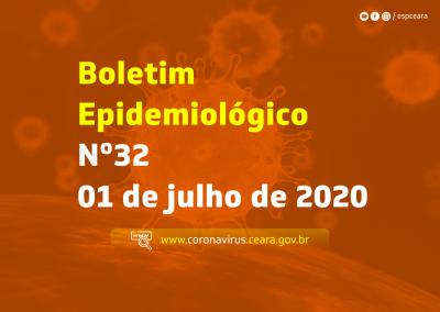 Boletim Epidemiológico Nº 32 de 01 de julho de 2020