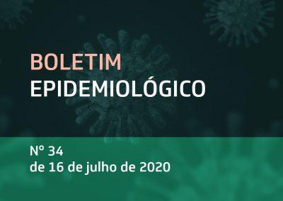 Boletim Epidemiológico Nº 34 de 16 de julho de 2020