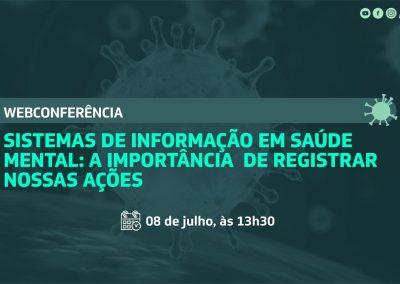 Webconferência debate Sistemas de Informação em Saúde Mental