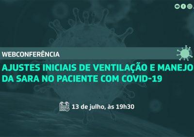 Webconferência aborda ajustes iniciais de ventilação mecânica e manejo da SARA em pacientes com Covid-19