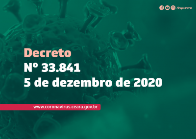 Decreto Nº 33.841, de 05 de dezembro de 2020