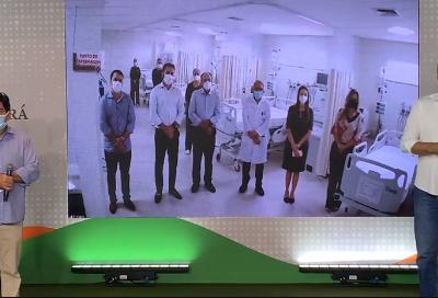 27.02.2021 | Camilo Santana anuncia mais dez leitos de UTI no Hospital Geral de Crateús